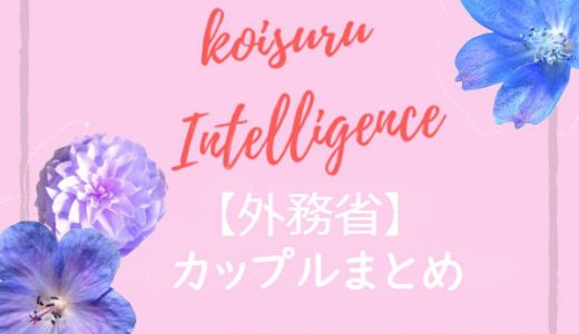 恋するインテリジェンス【外務省】カップルまとめ