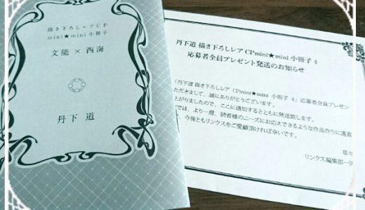 描き下ろしレアCP mini★mini小冊子4「文能✕西海」が届いたよ!